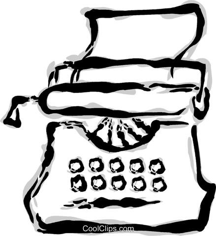typewriter Royalty Free Vector Clip Art illustration vc044797