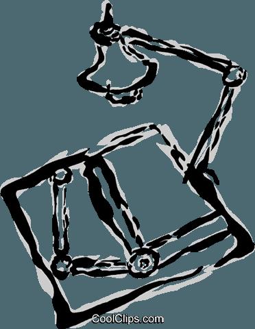 Mesa De Desenho Com Lampada Livre De Direitos Vetores Clip Art