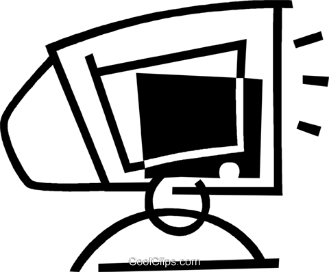 computer monitor Royalty Free Vector Clip Art illustration vc044815