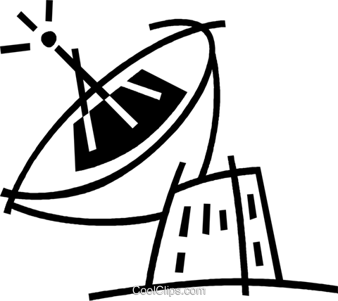 satellite dish Royalty Free Vector Clip Art illustration vc044839