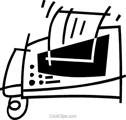 fax machine Royalty Free Vector Clip Art illustration vc044847