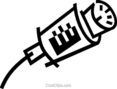 computer cable Royalty Free Vector Clip Art illustration vc044861
