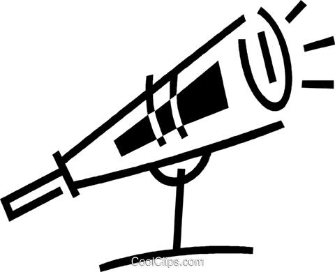 telescope Royalty Free Vector Clip Art illustration vc044866