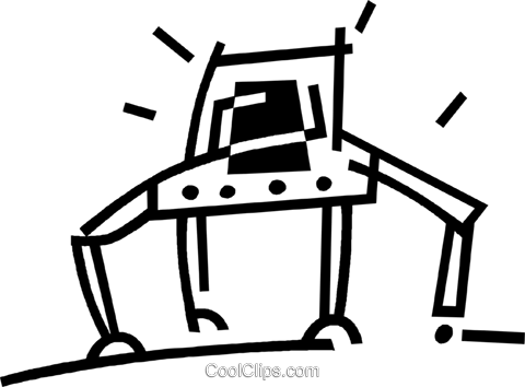 robot Royalty Free Vector Clip Art illustration vc044875