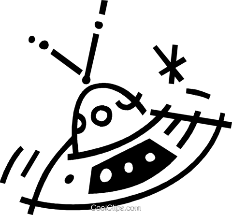 ufo Royalty Free Vector Clip Art illustration vc044876