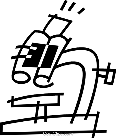 microscope Royalty Free Vector Clip Art illustration vc044891