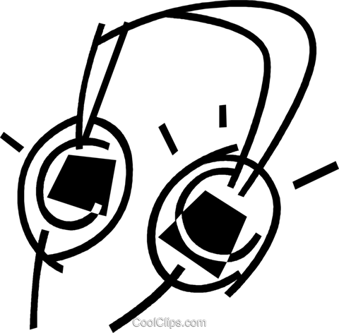headphones Royalty Free Vector Clip Art illustration vc044901