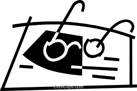 glasses Royalty Free Vector Clip Art illustration vc044906
