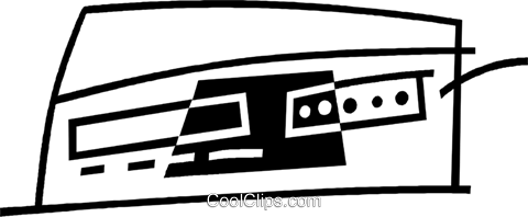 stereo equipment Royalty Free Vector Clip Art illustration vc044943