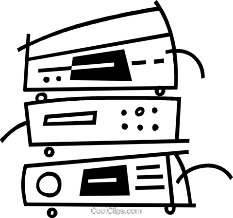 stereo components Royalty Free Vector Clip Art illustration vc044945