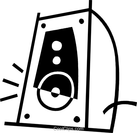 speaker Royalty Free Vector Clip Art illustration vc044951