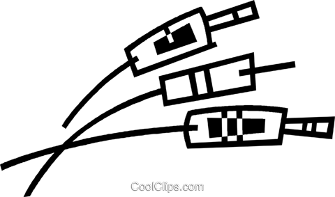 cables Royalty Free Vector Clip Art illustration vc044961