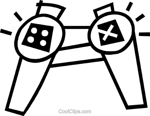 game controller Royalty Free Vector Clip Art illustration vc044974