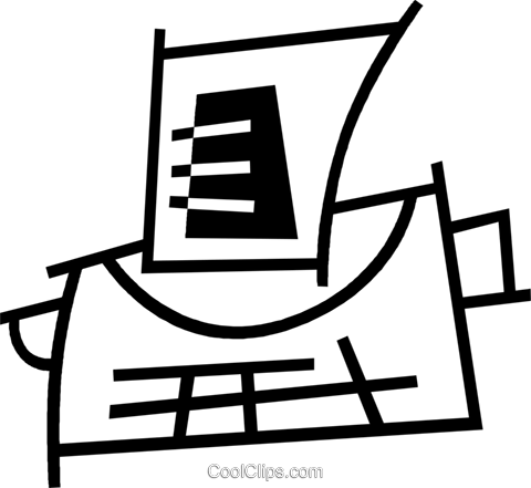 typewriter Royalty Free Vector Clip Art illustration vc044975