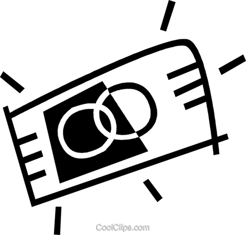 credit card Royalty Free Vector Clip Art illustration vc044977