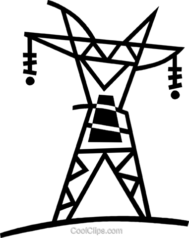 hydro towers Royalty Free Vector Clip Art illustration vc044984