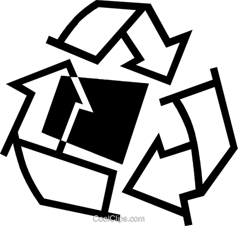recycling symbols Royalty Free Vector Clip Art illustration vc044991