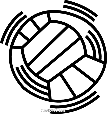 volleyball Royalty Free Vector Clip Art illustration vc045036