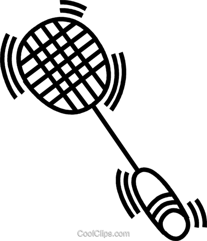 badminton racket Royalty Free Vector Clip Art illustration vc045037