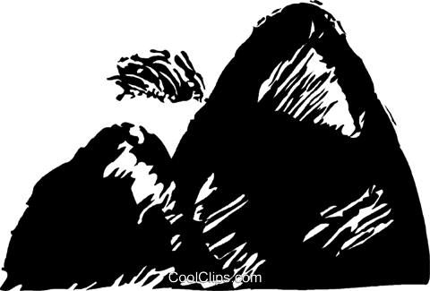 mountain Royalty Free Vector Clip Art illustration vc044216