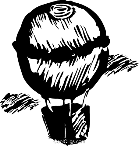 hot air balloon Royalty Free Vector Clip Art illustration vc044238