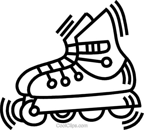 roller blade Royalty Free Vector Clip Art illustration vc045046