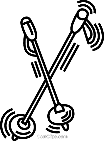 ski poles Royalty Free Vector Clip Art illustration vc045050