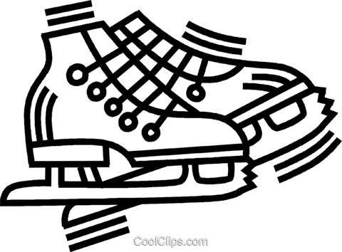 ice skates Royalty Free Vector Clip Art illustration vc045053