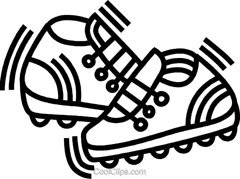 running shoes Royalty Free Vector Clip Art illustration vc045061