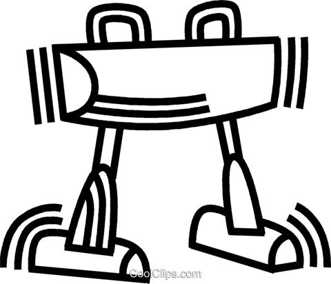 pommel horse Royalty Free Vector Clip Art illustration vc045064