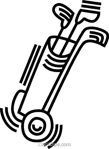 golf clubs Royalty Free Vector Clip Art illustration vc045070