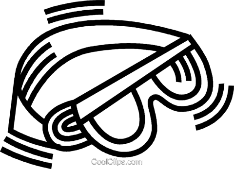 goggles Royalty Free Vector Clip Art illustration vc045078