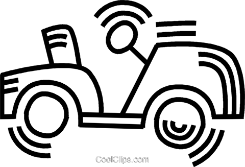 golf cart Royalty Free Vector Clip Art illustration vc045079