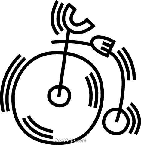 penny farthing Royalty Free Vector Clip Art illustration vc045094
