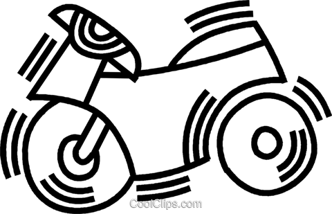motorcycle Royalty Free Vector Clip Art illustration vc045098