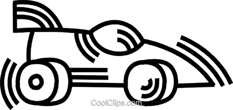 race car Royalty Free Vector Clip Art illustration vc045108