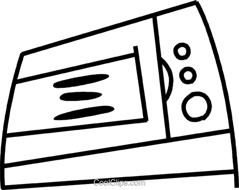 Microwave Ovens Royalty Free Vector Clip Art illustration vc045155