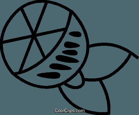 Sliced Orange Royalty Free Vector Clip Art Illustration Vc045175