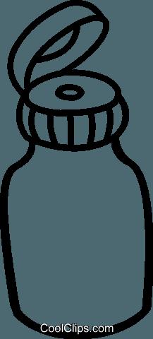 瓶 免版税矢量剪贴画插图