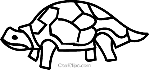 turtle Royalty Free Vector Clip Art illustration vc041438