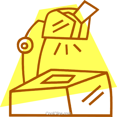 overhead projector Royalty Free Vector Clip Art illustration vc042162