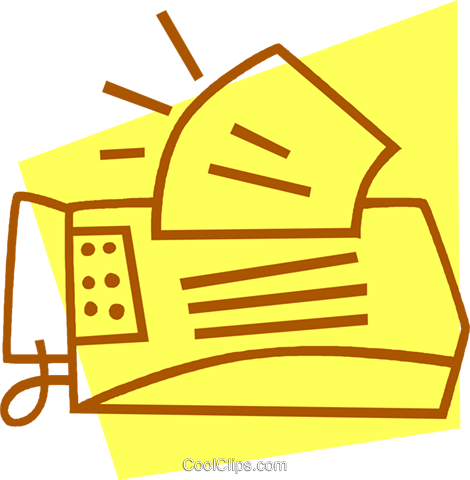 fax machine Royalty Free Vector Clip Art illustration vc042224