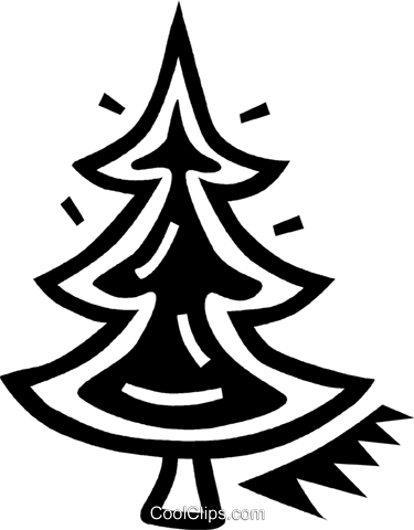 Christmas tree Royalty Free Vector Clip Art illustration vc043389