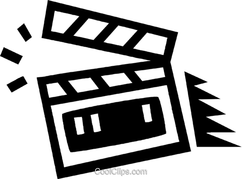 clapper board Royalty Free Vector Clip Art illustration vc043392