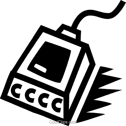 hand scanner Royalty Free Vector Clip Art illustration vc043397