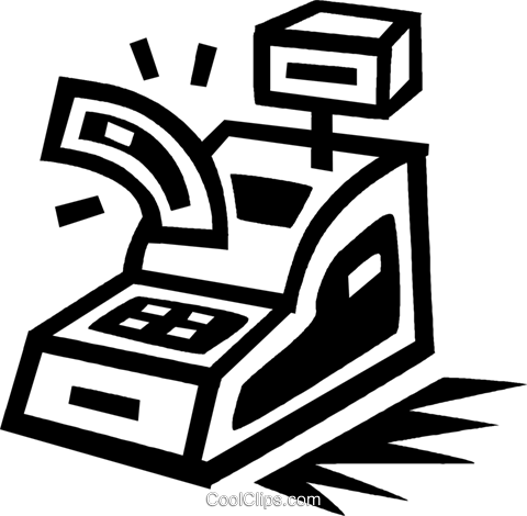 cash register Royalty Free Vector Clip Art illustration vc043408