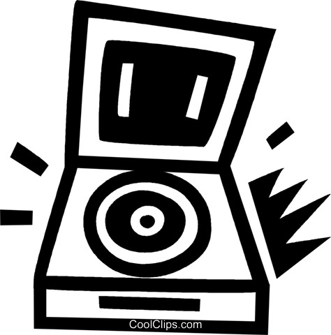 record player Royalty Free Vector Clip Art illustration vc043410