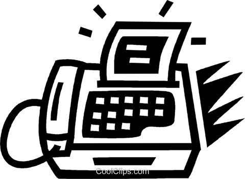 fax machine Royalty Free Vector Clip Art illustration vc043412
