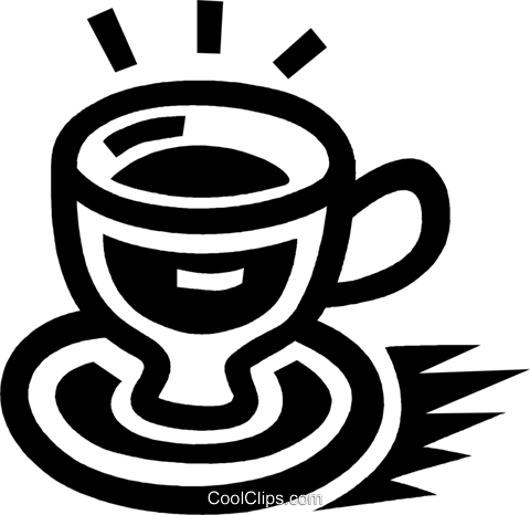 coffee cup Royalty Free Vector Clip Art illustration vc043422