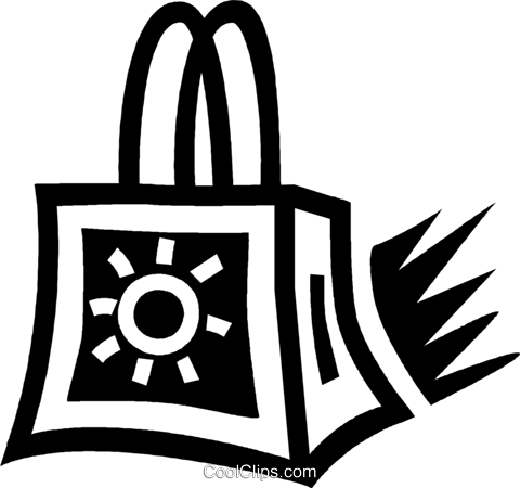 shopping bag Royalty Free Vector Clip Art illustration vc043431